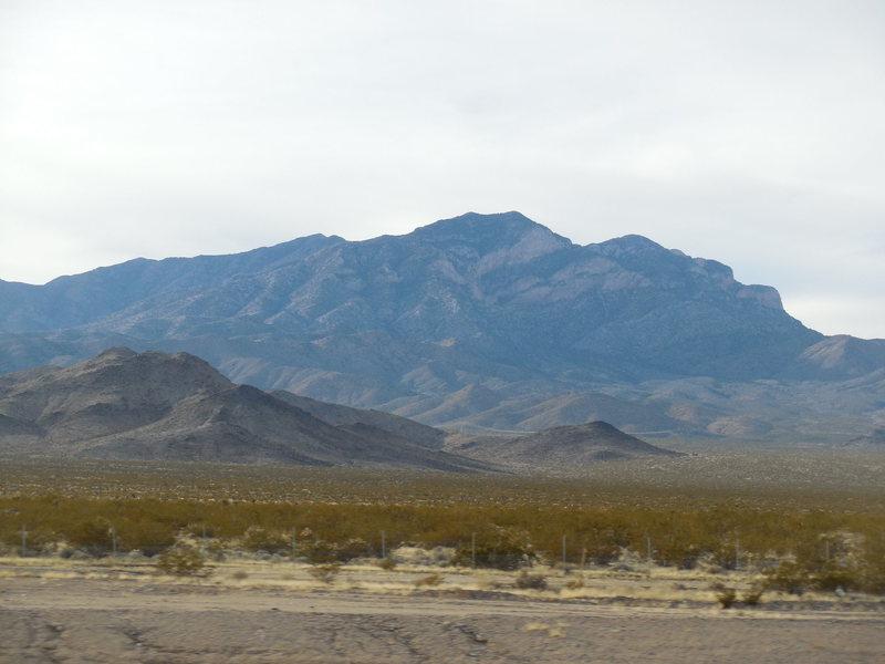 Rock Climbing Photo: Clark Mountain from I-15.