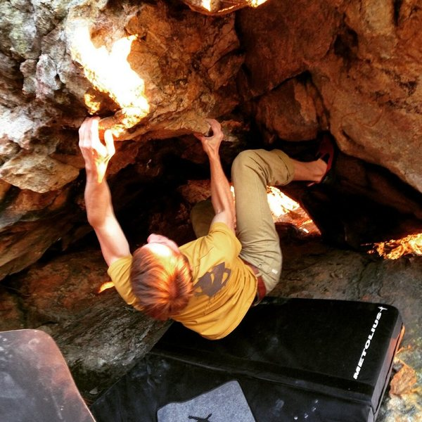 Rock Climbing Photo: Toe Jam Crux