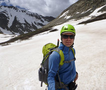 Rock Climbing Photo: After skiing the North Face of Mt. Democrat.