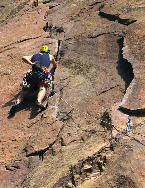 Leading Pitch 1 of the Bastille Crack.