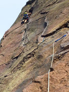 Rock Climbing Photo: Leading pitch 1 of the Bastille Crack