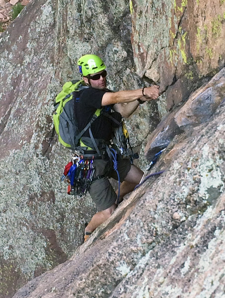 Rock Climbing Photo: Seconding pitch 1 of Calypso.