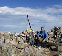 Rock Climbing Photo: On top of Bald Mountain. Getting ready to make som...