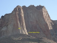 Rock Climbing Photo: Main wall. Sun and shade on the center are split o...