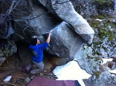 Rock Climbing Photo: Josh crush campusing this hog!  Nice send buddy!  ...