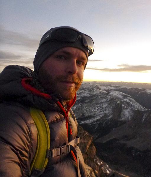 Summit of Columbia at sunset