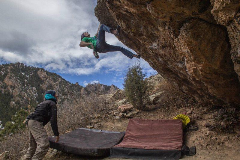 Rock Climbing Photo: Pushing for the glory run!  Rad climb!  Proud to h...