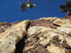 Rock Climbing Photo: P1 Sandstone Overcast Photo: Larry DeAngelo