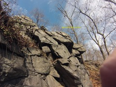 Rock Climbing Photo: Ending traverse and top out