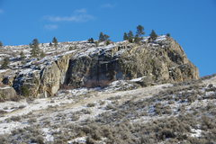 Rock Climbing Photo: West Face from the lower west (powerline road) app...