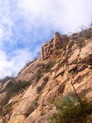 Rock Climbing Photo: View of Pseudomania when approaching from the bott...