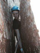 Rock Climbing Photo: John S following up Teacup.