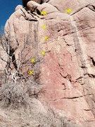 Rock Climbing Photo: Slime of the Century follows the five bolts on the...