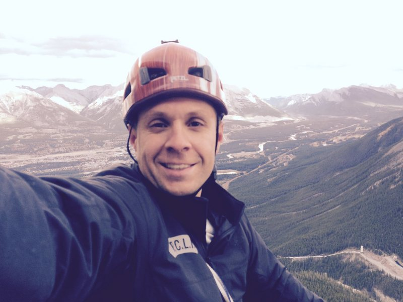 Rock Climbing Photo: Me on top of True Grit, Canmore, AB
