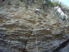 Climbing at St-Alban, Qc.