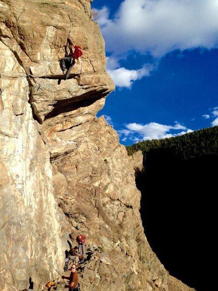 Rock Climbing Photo: Post crux.