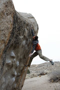 Rock Climbing Photo: After working the route all day, I finally stick t...