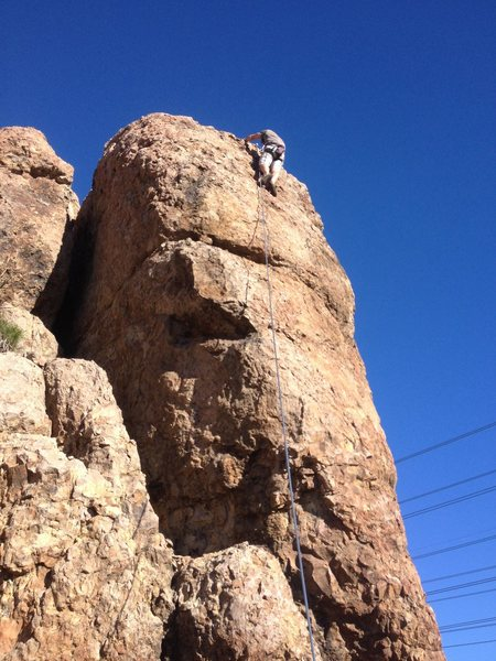 Chad Parker reaches the top.