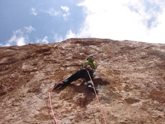 Rock Climbing Photo: Massimo Da Pozzo opening the new route
