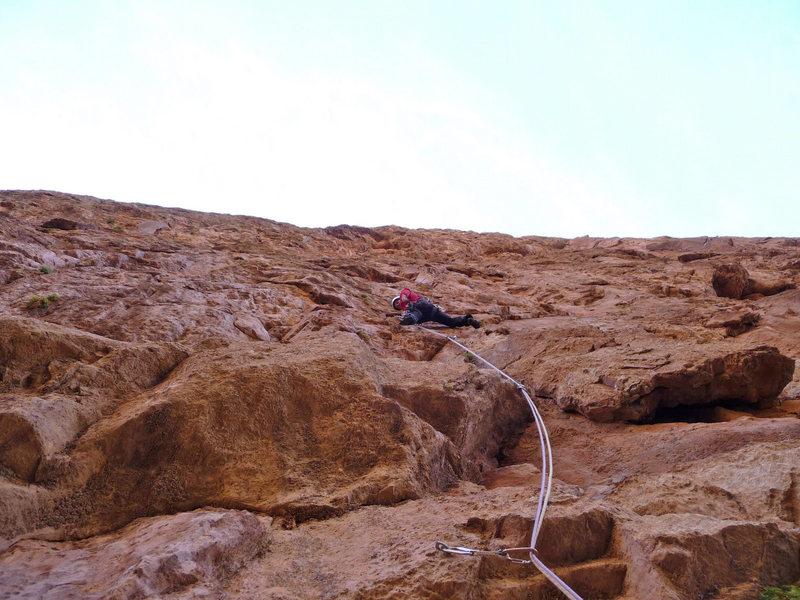 """I'm climbing up """"Les rivières pourpres"""" - (7c - 500m) Mt. Taoujdad"""