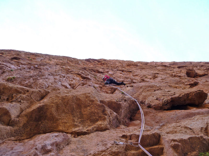 "Rock Climbing Photo: I'm climbing up ""Les rivières pourpres""..."