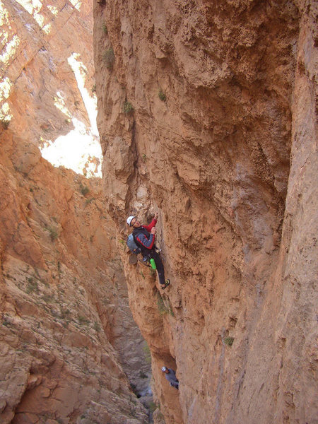"Rock Climbing Photo: Federico (above) and me climbing on ""Les rivi..."