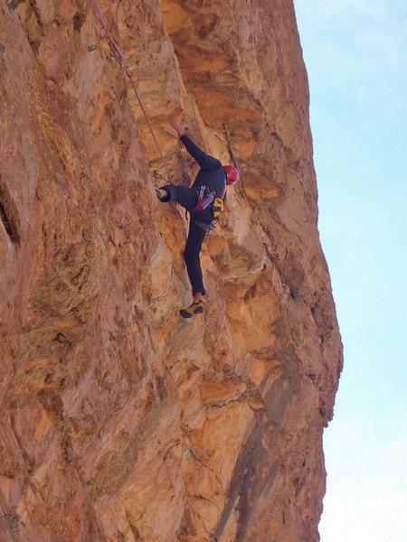 "Rock Climbing Photo: Climbing on ""Baraka"" - Mt. Oujdad"