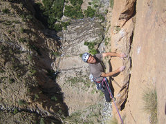 """Rock Climbing Photo: Enrico climbing on """"Zebda"""" (7b+ - Paroi ..."""