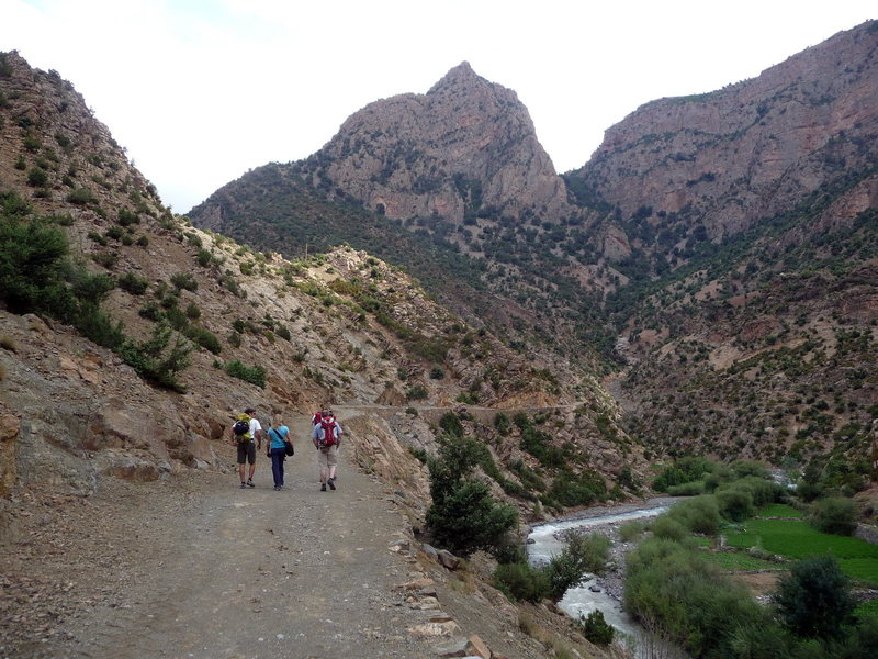 Rock Climbing Photo: The beginning of the path to Taghia