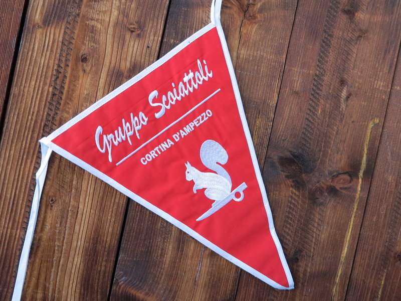 "The pennant of our club, the ""Scoiattoli di Cortina"""