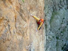 "Rock Climbing Photo: Davide Gaspari climb on ""Les riveres puorpres..."