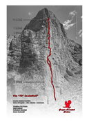 "Rock Climbing Photo: Our route, ""Via Bibi Ghedina"" (or ""..."