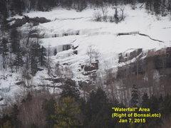 "Rock Climbing Photo: Waterfall ""Area"" viewed Jan 7th  By Jan ..."