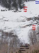 Rock Climbing Photo: Detail of Rap Locations