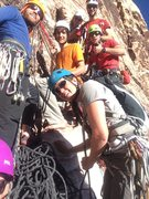 Rock Climbing Photo: a group selfie with the three other teams on the r...
