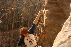 Rock Climbing Photo: Fun, long, pumpy route! Definitely needed the sadd...