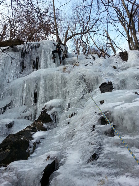 Rock Climbing Photo: Mary White ice climbing in White Oak Canyon