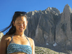 Rock Climbing Photo: Rita Shin - The Queen of Temple Crag.  Photo by St...