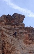 Rock Climbing Photo: looking up at what's to come, trying to beat the o...