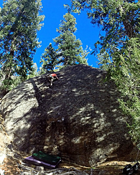 Rock Climbing Photo: First Ascent of Dark Tranquility