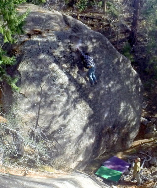 Rock Climbing Photo: Ethan gets a dose of Dark Tranquility
