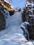 Rock Climbing Photo: First ascent of Wind Chill and Sewer