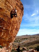 Rock Climbing Photo: Hangdoggin