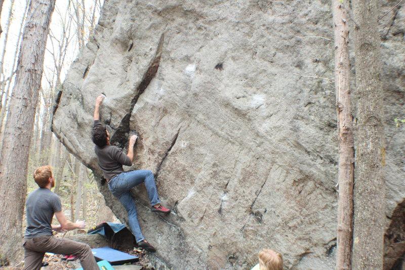 Rock Climbing Photo: Jorge on Piano Man