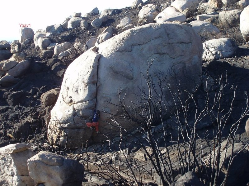 Rock Climbing Photo: Crumpus is the easy handcrack.    The steep South ...