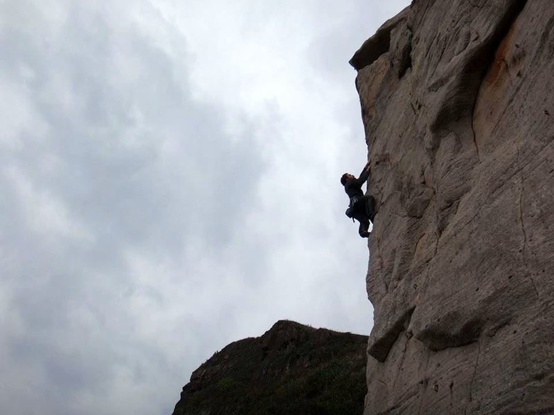 """Rock Climbing Photo: Me onsighting the easiest """"11c"""" in histo..."""
