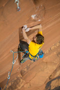 Rock Climbing Photo: Entering the crux at the 3rd bolt  Andrew Burr pho...