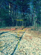 Rock Climbing Photo: After the dirt and gravel road starts the single t...