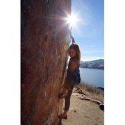 Rock Climbing Photo: Horsetooth reservoir
