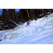 Rock Climbing Photo: Big Gully Ice ski descent Vail, CO